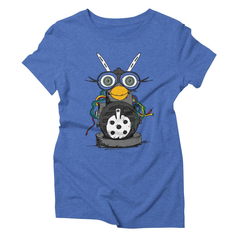 Bent Fur-bot Women's Triblend T-Shirt by Children's Telepathic Workshop