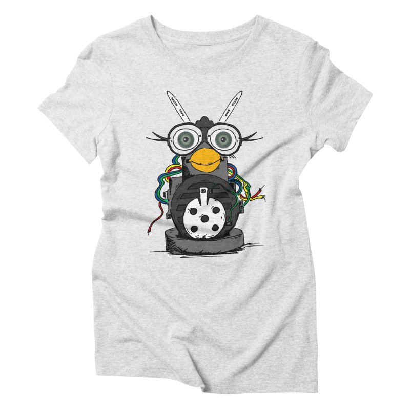 Bent Fur-bot Women's Triblend T-Shirt by Children's Telepathic Workshop
