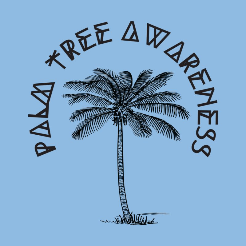 Palm Tree Awareness ( Logo - Black) by Children's Telepathic Workshop
