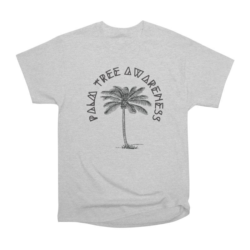 Palm Tree Awareness ( Logo - Black) Men's T-Shirt by Children's Telepathic Workshop