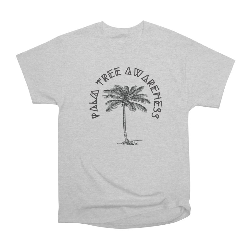 Palm Tree Awareness ( Logo - Black) Men's Heavyweight T-Shirt by Children's Telepathic Workshop