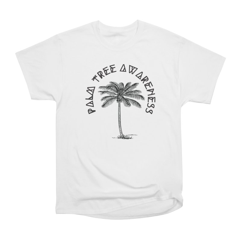 Palm Tree Awareness ( Logo - Black) Women's Heavyweight Unisex T-Shirt by Children's Telepathic Workshop