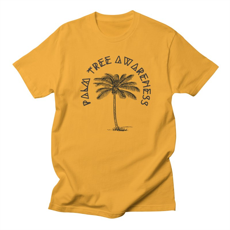 Palm Tree Awareness ( Logo - Black) Women's Regular Unisex T-Shirt by Children's Telepathic Workshop