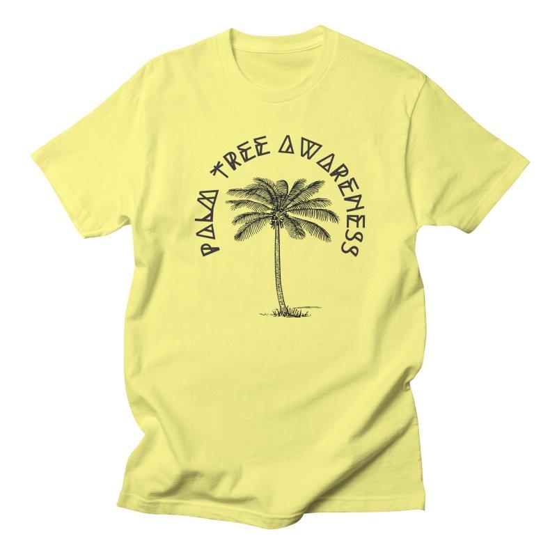 Palm Tree Awareness ( Logo - Black) Women's Regular Unisex T-Shirt by Children's Telepathic Workshop
