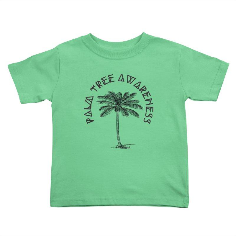 Palm Tree Awareness ( Logo - Black) Kids Toddler T-Shirt by Children's Telepathic Workshop