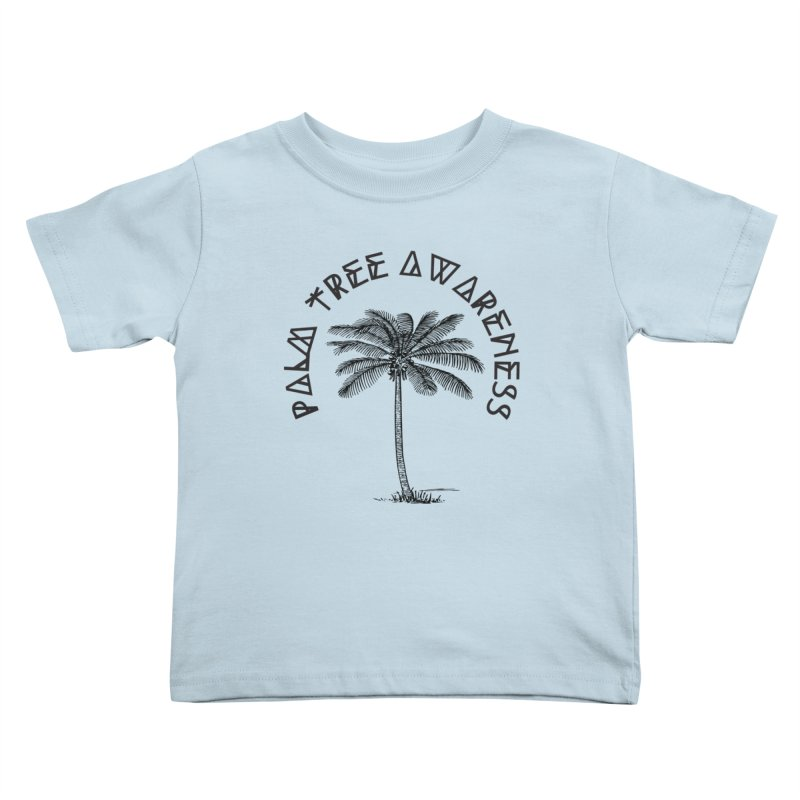 Palm Tree Awareness ( Logo - Black) Kids  by Children's Telepathic Workshop