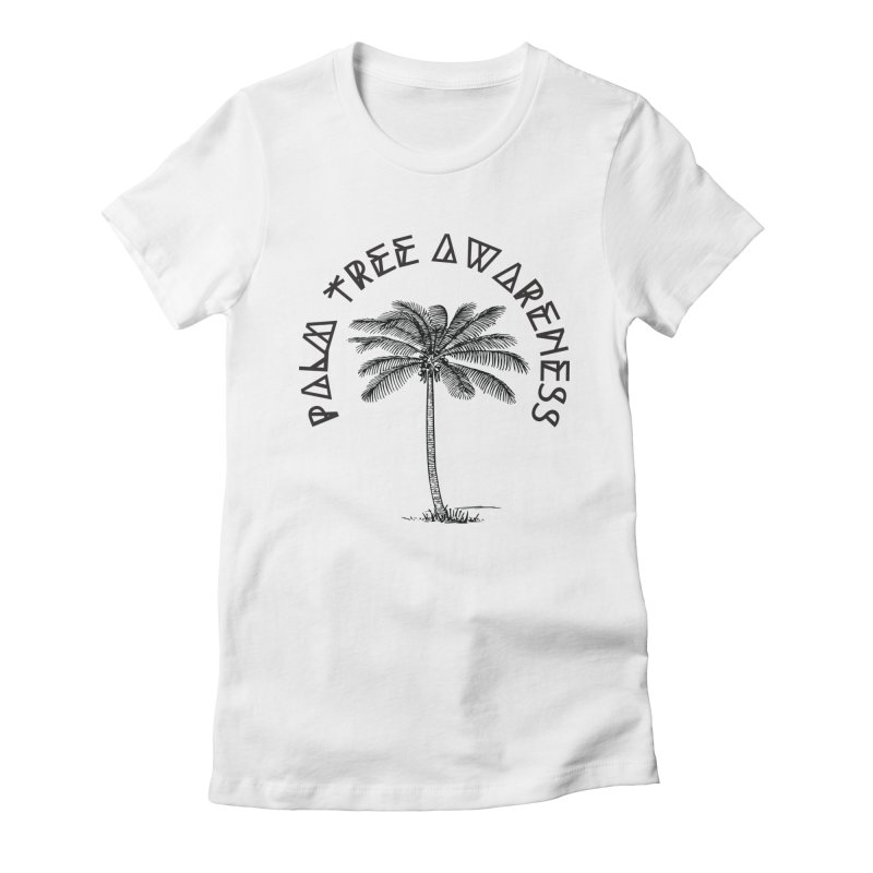 Palm Tree Awareness ( Logo - Black) Women's Fitted T-Shirt by Children's Telepathic Workshop