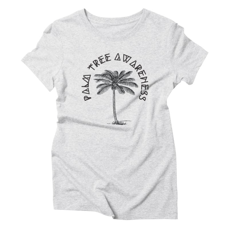 Palm Tree Awareness ( Logo - Black) Women's Triblend T-Shirt by Children's Telepathic Workshop
