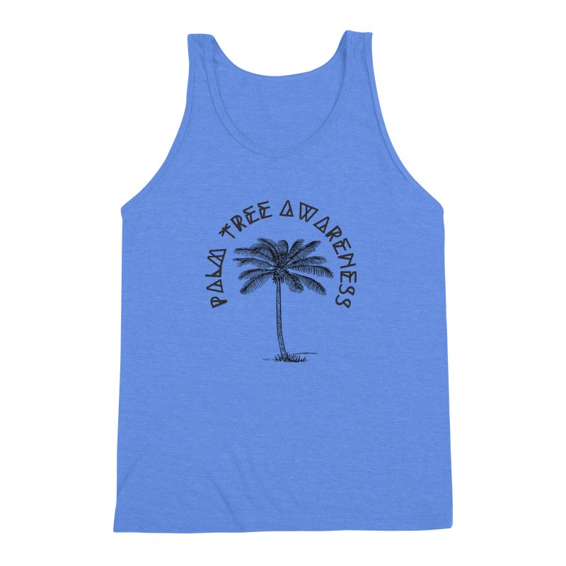 Palm Tree Awareness ( Logo - Black) Men's Triblend Tank by Children's Telepathic Workshop