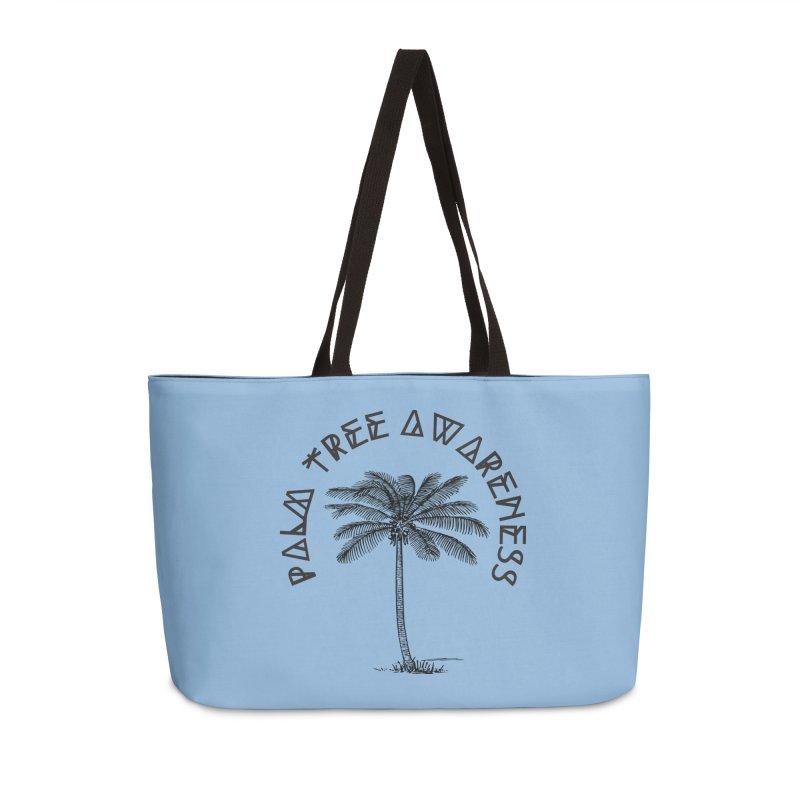Palm Tree Awareness ( Logo - Black) Accessories Weekender Bag Bag by Children's Telepathic Workshop