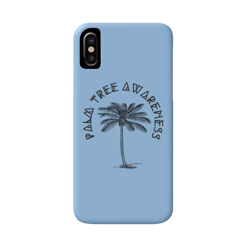 Palm Tree Awareness ( Logo - Black) Accessories Phone Case by Children's Telepathic Workshop