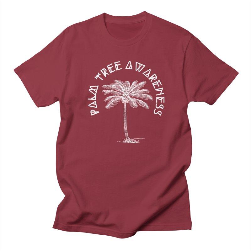 Palm Tree Awareness (Logo - White) Men's Regular T-Shirt by Children's Telepathic Workshop