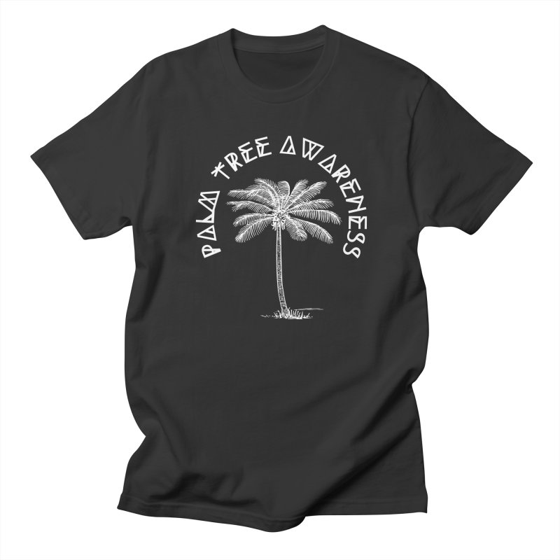 Palm Tree Awareness (Logo - White) Men's Regular T-Shirt by Children's Telepathic Workshop