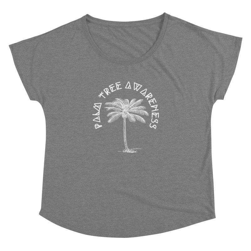 Palm Tree Awareness (Logo - White) Women's  by Children's Telepathic Workshop