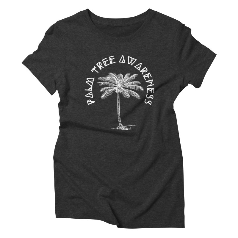 Palm Tree Awareness (Logo - White) Women's Triblend T-Shirt by Children's Telepathic Workshop
