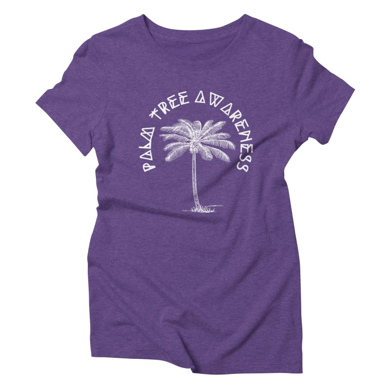 Palm Tree Awareness (Logo - White) Women's  by Children's Telepathic Workshop