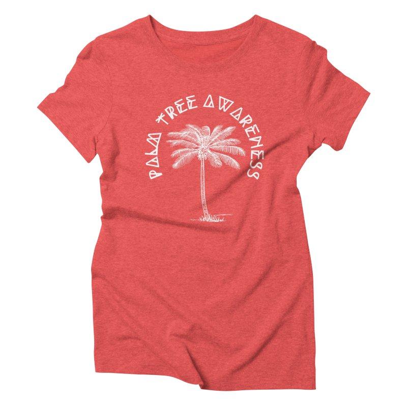 Palm Tree Awareness (Logo - White) Women's Triblend T-Shirt by Children's Telepathic Workshop
