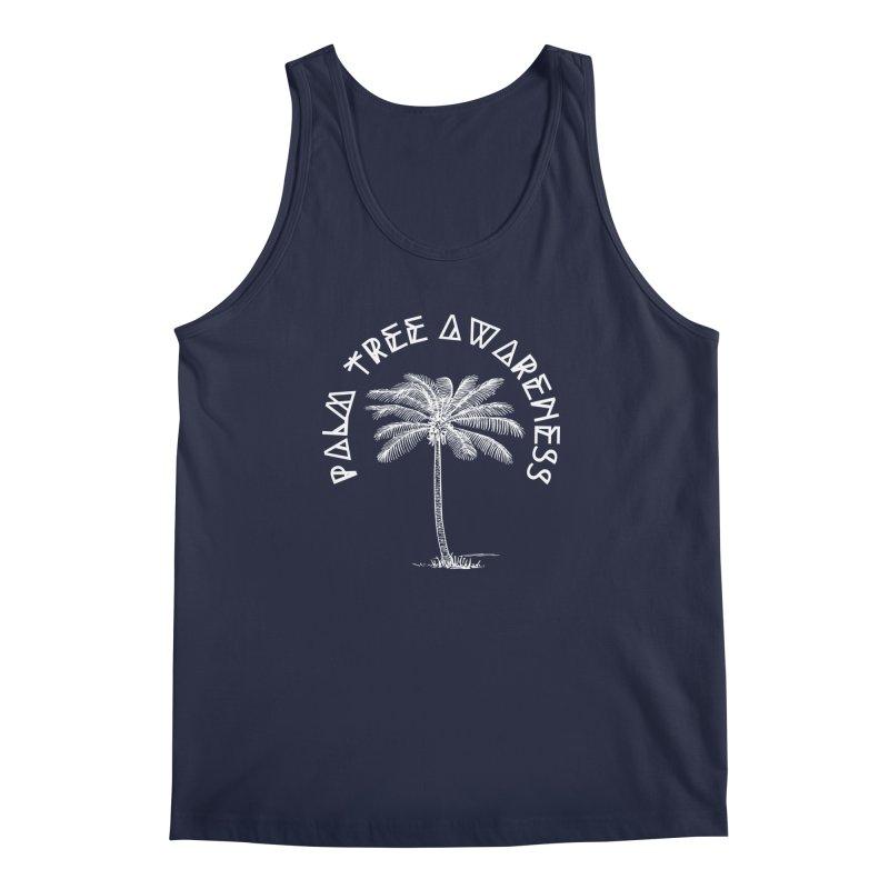 Palm Tree Awareness (Logo - White) Men's Regular Tank by Children's Telepathic Workshop