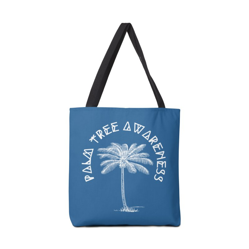 Palm Tree Awareness (Logo - White) Accessories Bag by Children's Telepathic Workshop