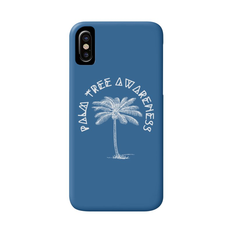 Palm Tree Awareness (Logo - White) Accessories Phone Case by Children's Telepathic Workshop