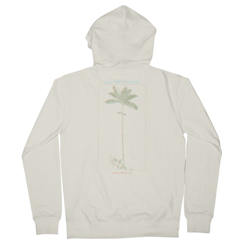 Euterpe Catinga (Palm Tree Awareness) Men's French Terry Zip-Up Hoody by Children's Telepathic Workshop