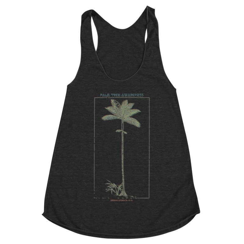Euterpe Catinga (Palm Tree Awareness) Women's Racerback Triblend Tank by Children's Telepathic Workshop
