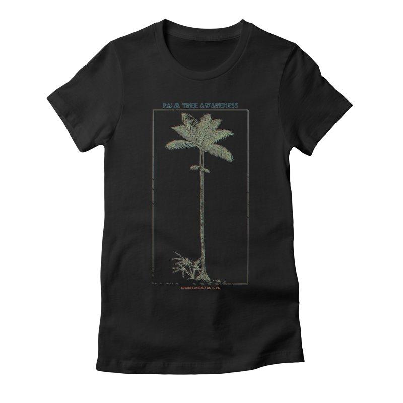 Euterpe Catinga (Palm Tree Awareness) Women's Fitted T-Shirt by Children's Telepathic Workshop