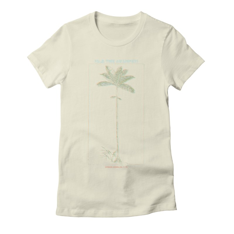 Euterpe Catinga (Palm Tree Awareness) Women's Fitted T-Shirt by Children's Telepathic Workshop
