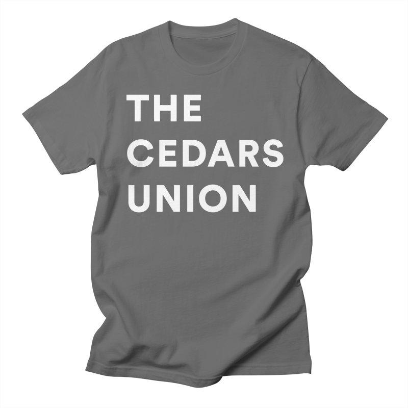 Cedars Union - Stack Logo White Men's T-Shirt by Cedars Union