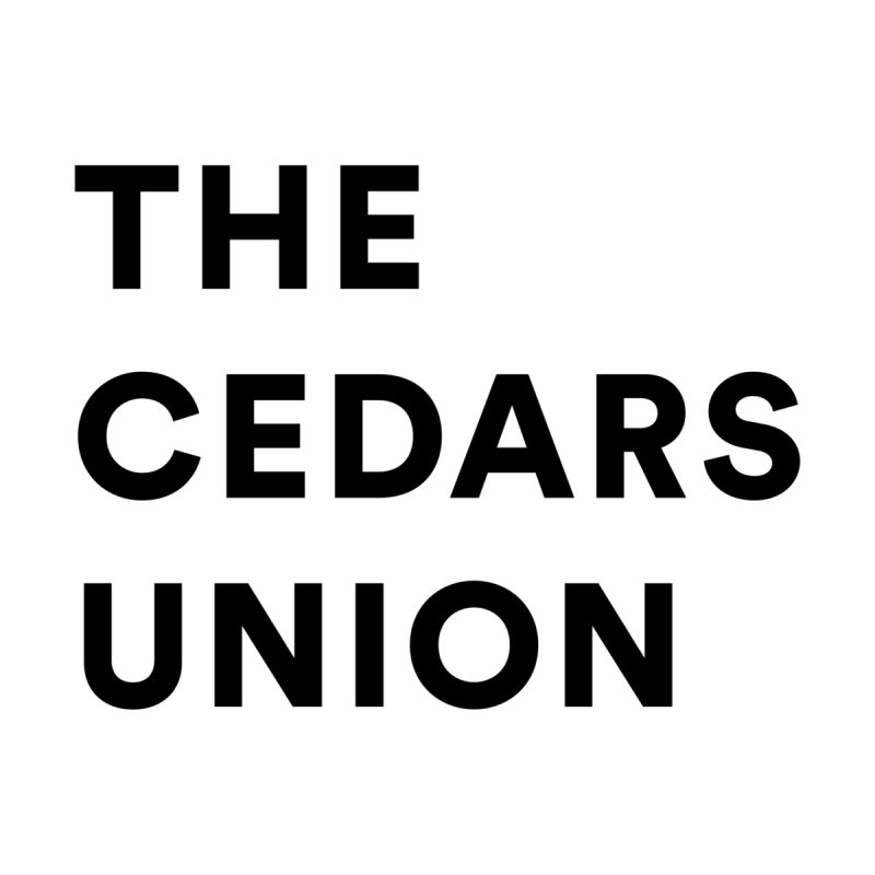 Cedars Union - Stack Logo Black Men's T-Shirt by Cedars Union