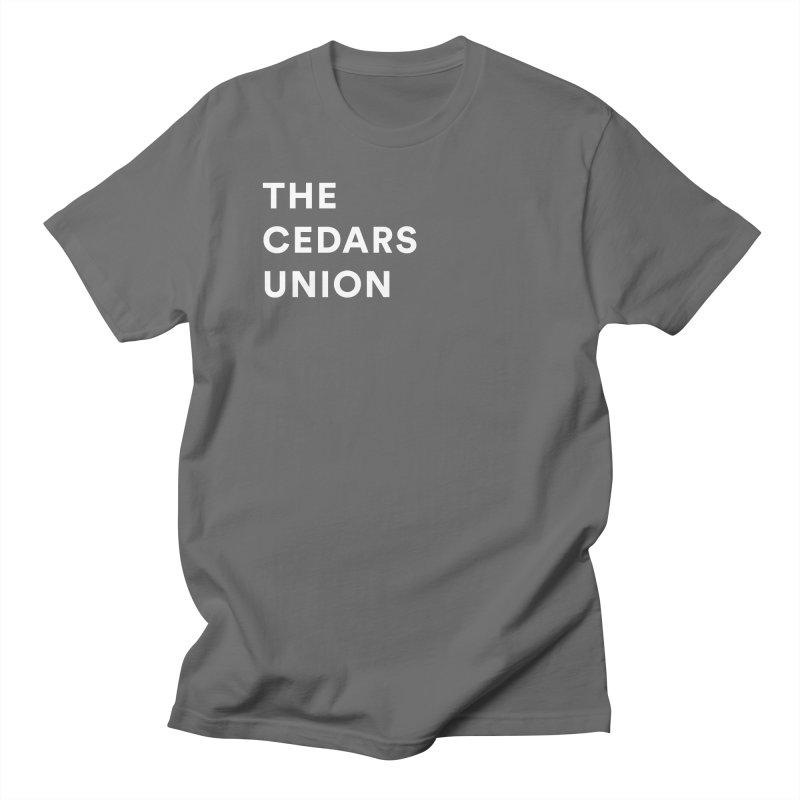 Cedars Union - Stack Logo Corner White Men's T-Shirt by Cedars Union