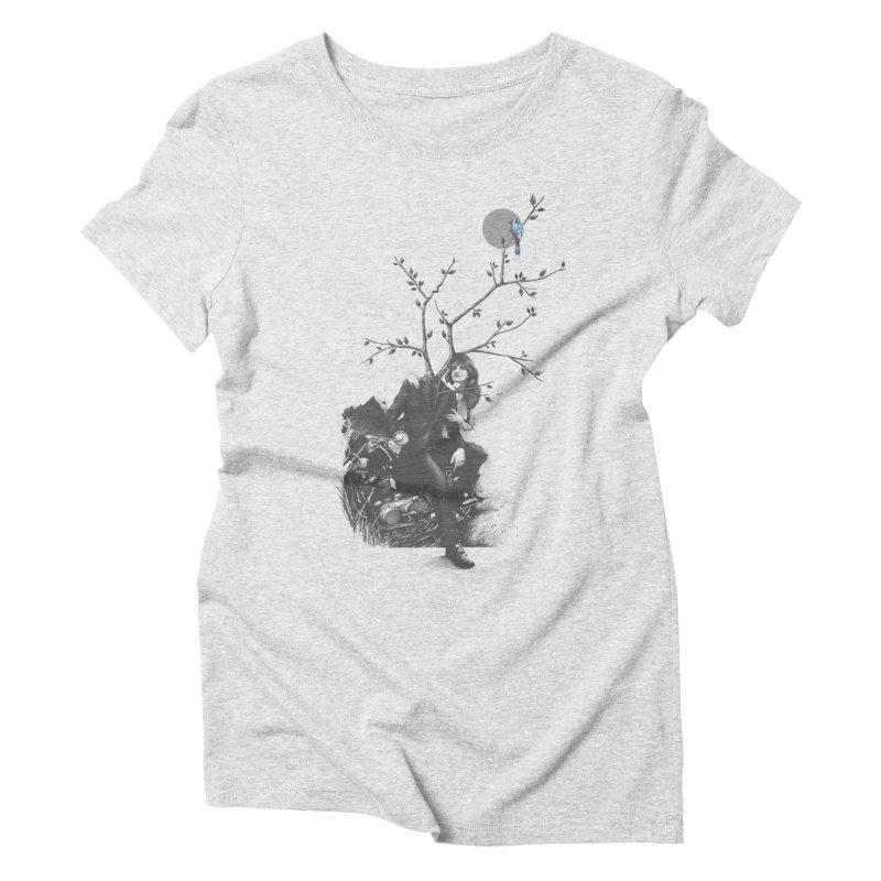Bluejay Women's Triblend T-Shirt by cuban0's Artist Shop