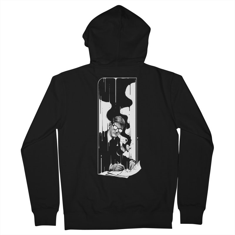Spilled Men's French Terry Zip-Up Hoody by cuban0's Artist Shop