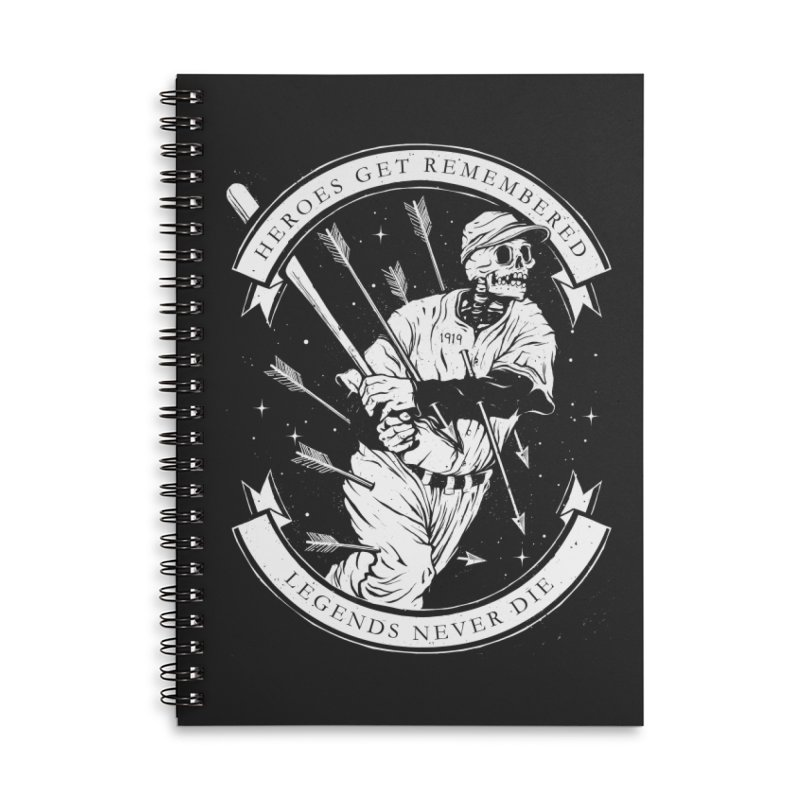 The Legend Accessories Lined Spiral Notebook by cuban0's Artist Shop