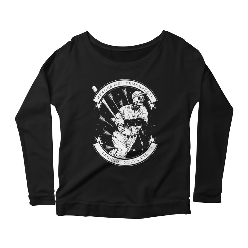 The Legend Women's Scoop Neck Longsleeve T-Shirt by cuban0's Artist Shop