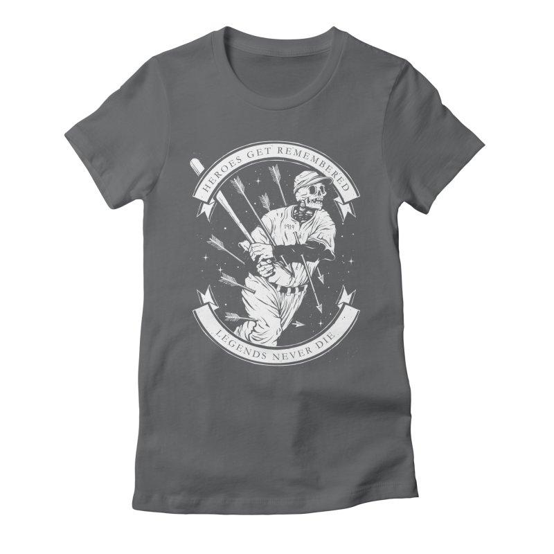 The Legend Women's Fitted T-Shirt by cuban0's Artist Shop