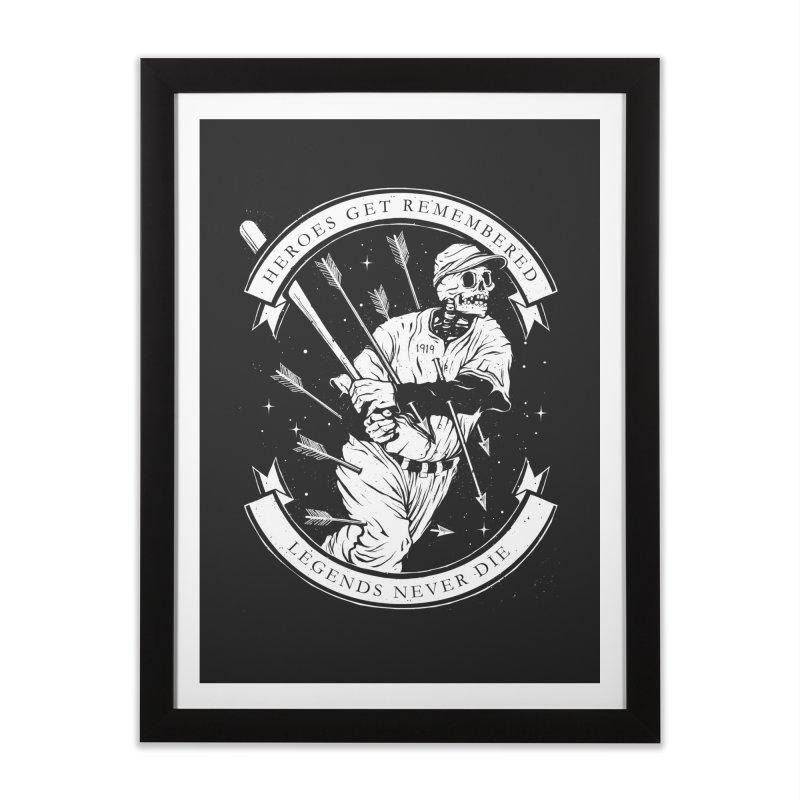 The Legend Home Framed Fine Art Print by cuban0's Artist Shop