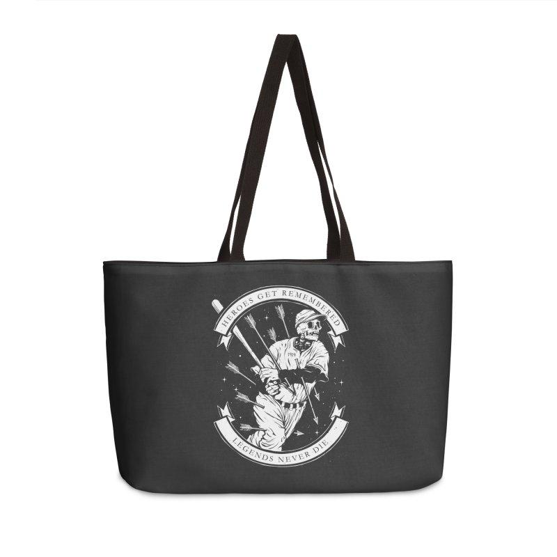 The Legend Accessories Weekender Bag Bag by cuban0's Artist Shop