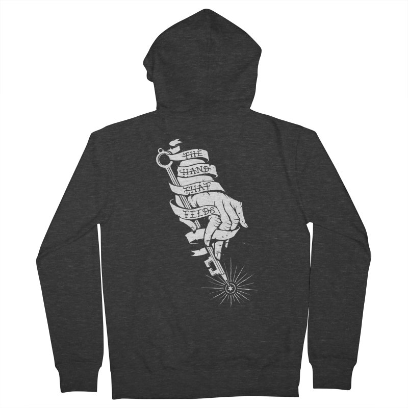 The Hand Men's French Terry Zip-Up Hoody by cuban0's Artist Shop
