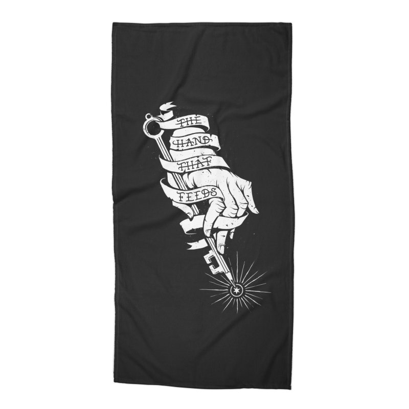 The Hand Accessories Beach Towel by cuban0's Artist Shop