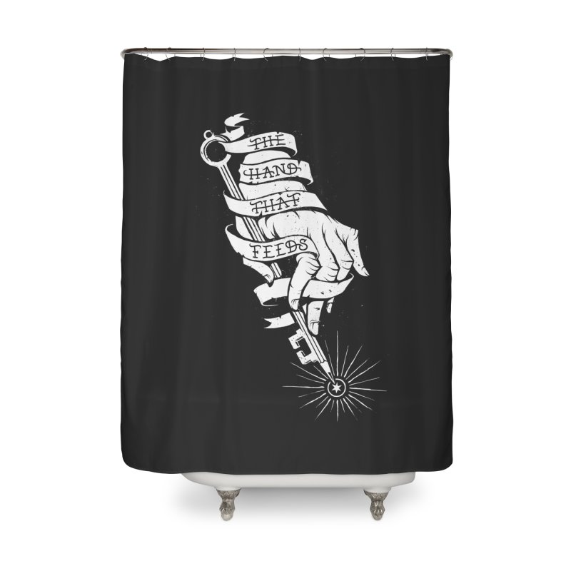 The Hand Home Shower Curtain by cuban0's Artist Shop
