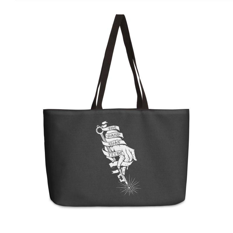 The Hand Accessories Weekender Bag Bag by cuban0's Artist Shop