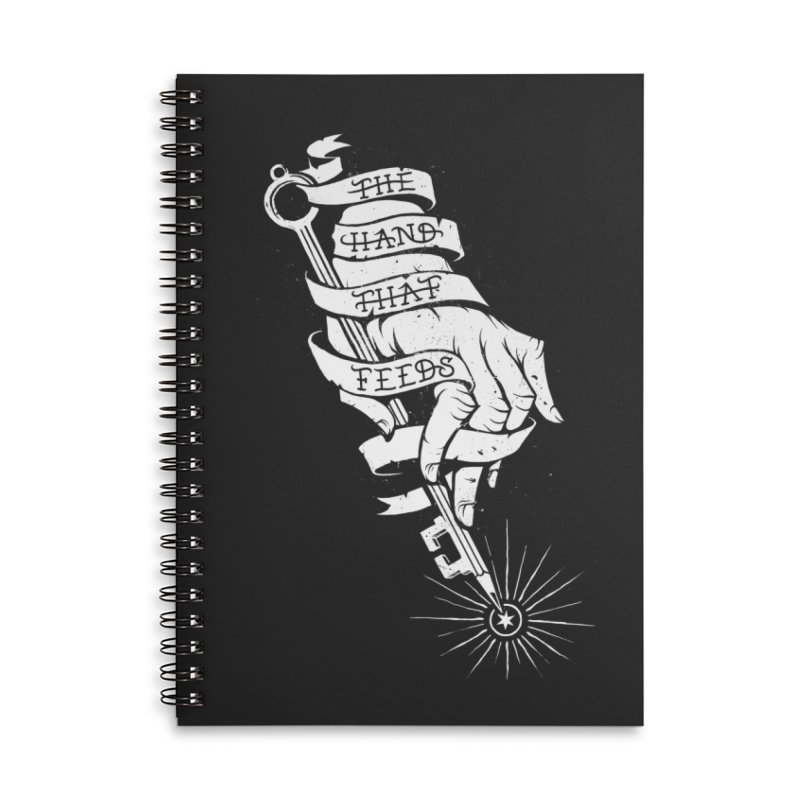 The Hand Accessories Lined Spiral Notebook by cuban0's Artist Shop