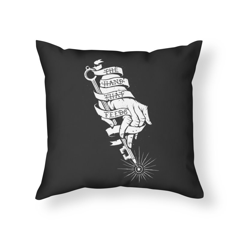 The Hand Home Throw Pillow by cuban0's Artist Shop