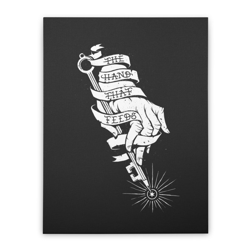 The Hand Home Stretched Canvas by cuban0's Artist Shop