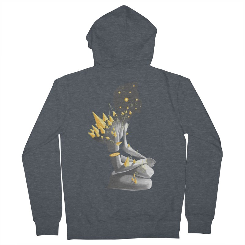 Somber Women's French Terry Zip-Up Hoody by cuban0's Artist Shop