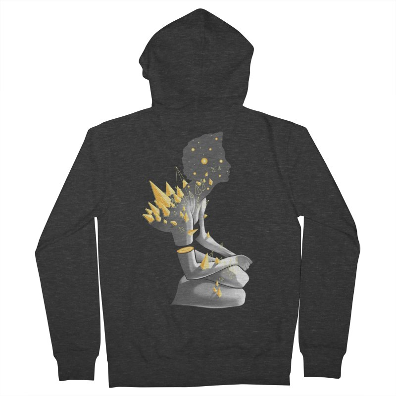 Somber Men's French Terry Zip-Up Hoody by cuban0's Artist Shop