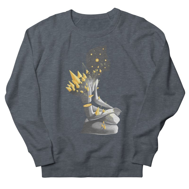 Somber Men's French Terry Sweatshirt by cuban0's Artist Shop