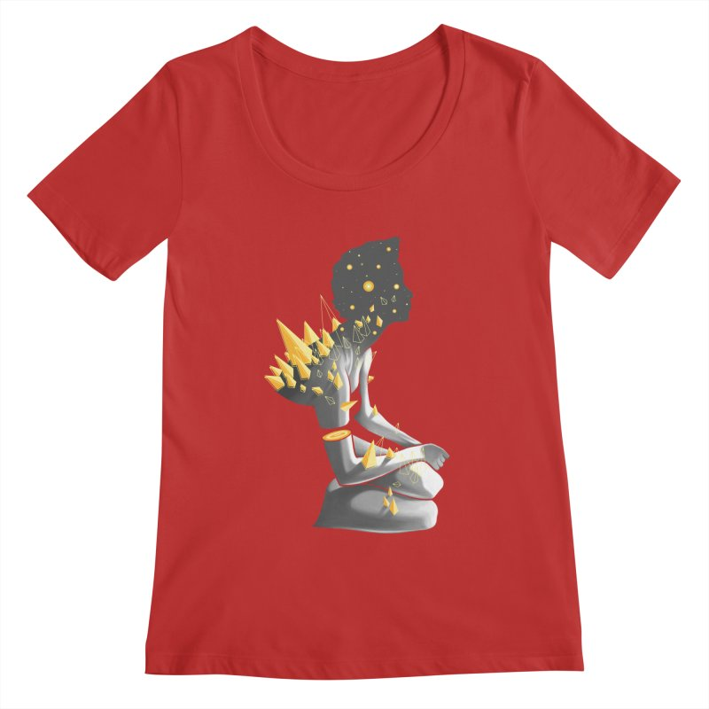 Somber Women's Regular Scoop Neck by cuban0's Artist Shop