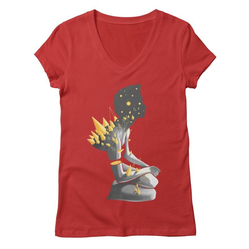 Somber Women's V-Neck by cuban0's Artist Shop